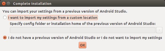 Tela após executar o Android Studio. Fonte: androidpro.com.br